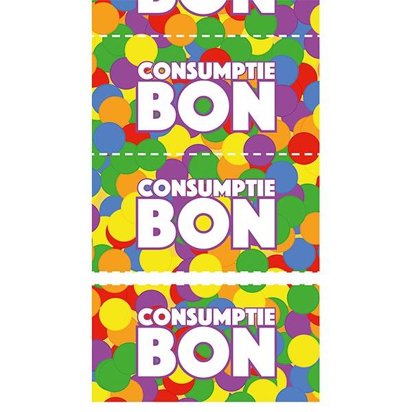 Consumptiebonnen Confetti 5.5
