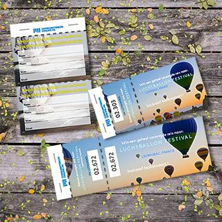 Loterij en tombola loten   Gepersonaliseerd gedrukt of voorgedrukt uit voorraad